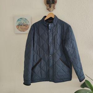 J Crew 💙Sussex Quilted Jacket Coat Primaloft Blue